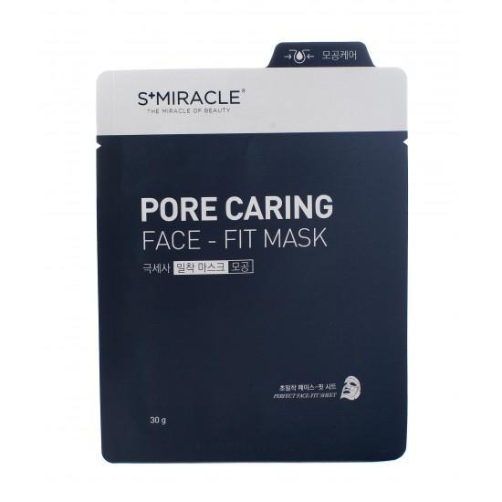 Маска для лица очищающая S+miracle Pore Caring Face-Fit Mask, 1 ШТ