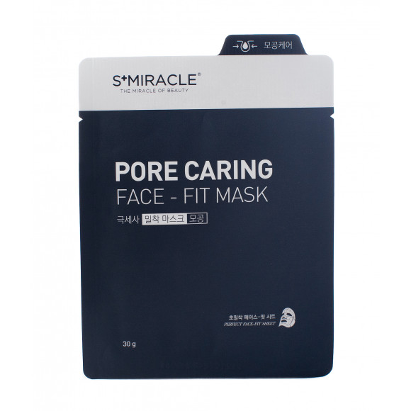 Маска для лица очищающая S+miracle Pore Caring Face-Fit Mask, 1 ШТ