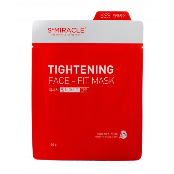 Маска для лица подтягивающая S+miracle Tightening Face-Fit Mask, 1 ШТ