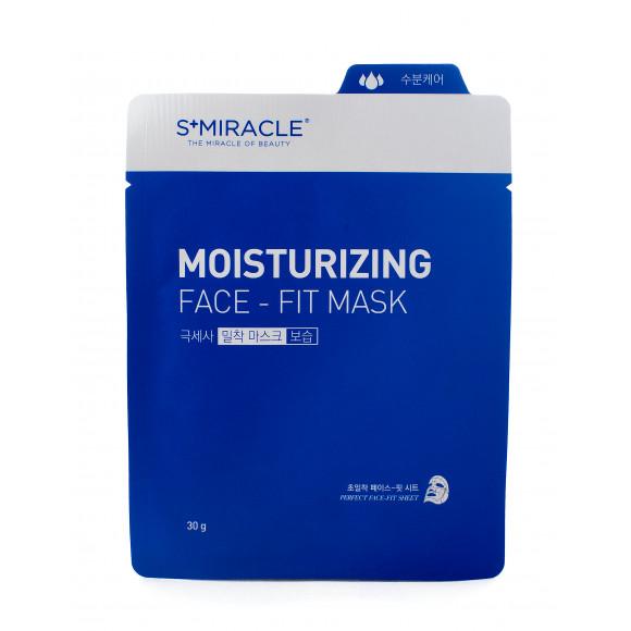 Маска для лица увлажняющая S+miracle Moisturizing Face-Fit Mask, 1 ШТ