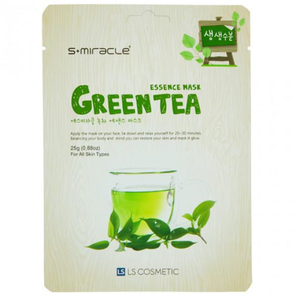 Маска для лица S+MIRACLE с экстрактом зеленого чая, 1 ШТ