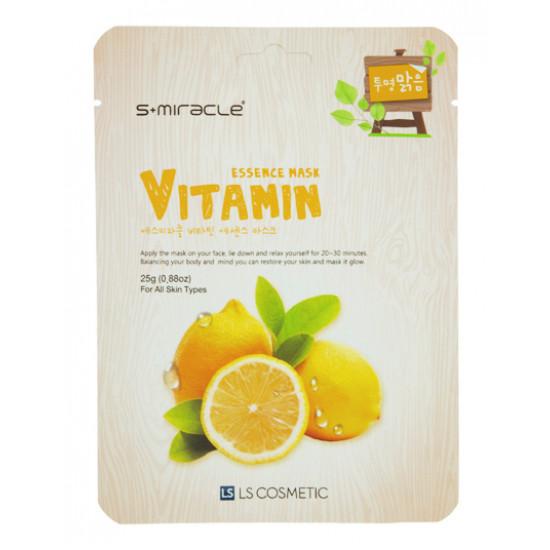 Маска для лица S+MIRACLE с витаминами, 1 ШТ