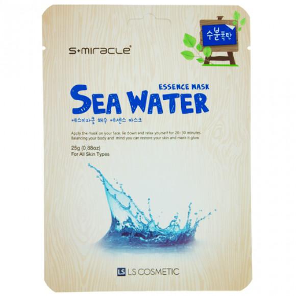 Маска для лица S+MIRACLE с морской водой, 1 ШТ