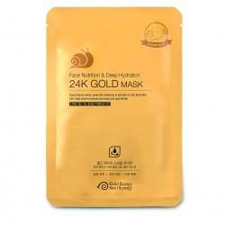 МАСКА ДЛЯ ЛИЦА GOLD ENERGY SNAIL SYNERGY GOLD SNAIL FACE NUTRITION & DEEP HYDRATION 24K GOLD MASK, 1 ШТ
