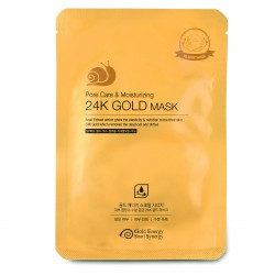 МАСКА ДЛЯ ЛИЦА GOLD ENERGY SNAIL SYNERGY GOLD SNAIL PORE CARE & MOISTURIZING 24K GOLD MASK, 1 ШТ